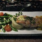 Délicieux plat de saumon