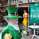 "At Buddy Lodge.  Nothing says ""Thailand"" better than a leprechaun and Ronald McDonald....?!?!"