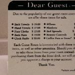 The price list.