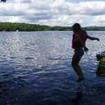 kids having a blast in the water