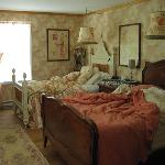 Our beds are unmade, but you can still see it's an awesome room!