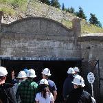 Preparing to enter the mine tunnel.