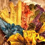 Banana fibre placemats, I got mix of four colours as I failed to choose a favourite :)