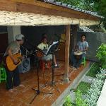 Reggae Band on the front veranda of Seahorse House