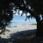 spiaggia davanti alla struttura
