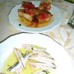 Great Bruschetta and razor clams
