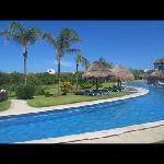 golden swim up pool.. nice and quiet!
