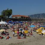 Great beach 2 mins from Pazo de Mendoza