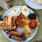 the Irish breakfast, as presented. Not greasy. Incredibly tasty.