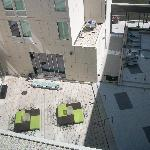 View of courtyard from our room