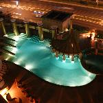 Night view of the gorgeous pool