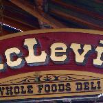 MacLevin's walkway overhead sign