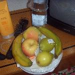 Our fruit from the hotel