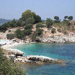 One of Kassiopi's beaches
