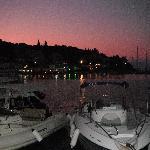 Sunset at Kassiopi harbour