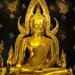 Gold plated and gleamingly beautiful, this image of Buddha is thought to be over 700 years old