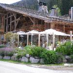 Sunny south terrasse of the restaurant