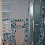 Il bagno: piccolo, ma molto funzionale