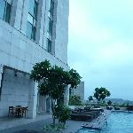 the pool at the Crowne Plaza Okhla