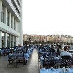 Terraza restaurante del Hotel Korumar