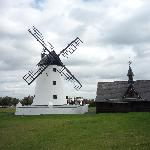 A nearby windmill, free to visit in pretty Lytham