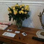 Flowers & chocolates on arrival