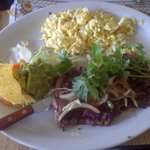 Yummy Carne Asada and Eggs cooked to order!