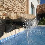 Rooftop terrace with waterfall plunge cool