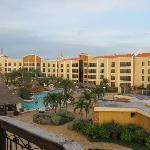 Vista del hotel desde el faro