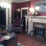 the beautiful fireplace in the living room