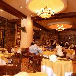 O excelente restaurante do hotel.