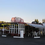 Old time drive in restaurant