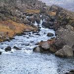 The smaller waterfall