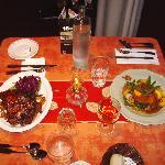 Repas table d'hôte,côte levées et canard