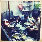 Kitchen at restaurant 2 (night tour)