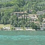 The hotel from Lake Garda