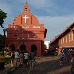 De (oudhollandse)kerk in het historisch deel van Malakka