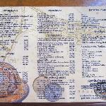 Carta menu amplia buena variedad y en español.