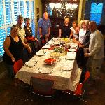 The hosts made a big family dinner for us - we paid extra (FYi) and it was WELL WORTH IT! They a