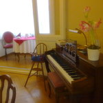 Piano in the breakfast room