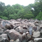 A view of the many rocks