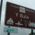 Bala town sign near Bala Station