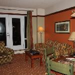 living room of the suite