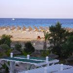 Evening sea view with the camels
