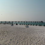 Beach view of pier