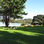Lower camp area on beachfront