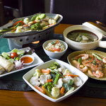 Selection of our Thai dishes