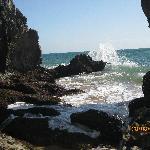 Las olas que se forman son preciosas