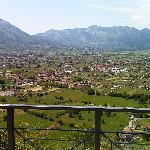 Panorama dal belvedere antistante il Castello
