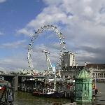 Il London Eye dal Westminster